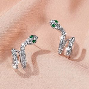 Any 2/$20! Silver Crystal Snake Cuff Earrings Set